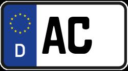 Nummernschild Aachen