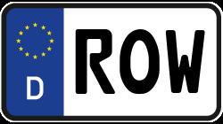Nummernschild Row