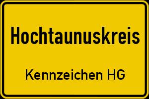 Kfz Kennzeichen Hg Hochtaunuskreis